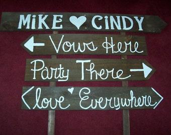 rustic Wedding Signs ,wooden signs, beach signs, wedding decorations , country farm wedding , wedding signage , reception sign ,  weddings