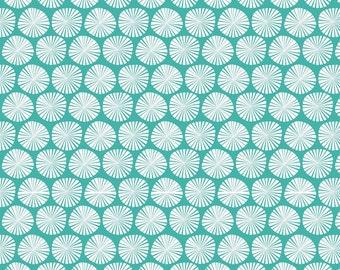 Aqua & White Riley Blake Fabric, Fancy Free C4062 Pinwheels Teal, Aqua Cotton Fabric, Teal and White Pinwheel Quilt Fabric, Cotton