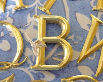 """10 Gold Dresden Letters ~ B  (1 1/2"""" tall)"""