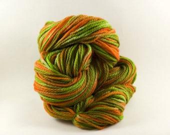Jalapeno, Aran\/Worsted Merino, Hand painted yarn