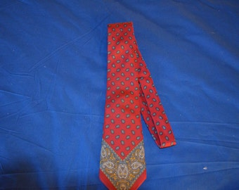 ON SALE  Vintage Red and Paisley Tie from Neiman Marcus
