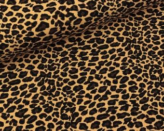 Cotton jersey Vera Animal print Leopard Beige (15.50 EUR/meter)
