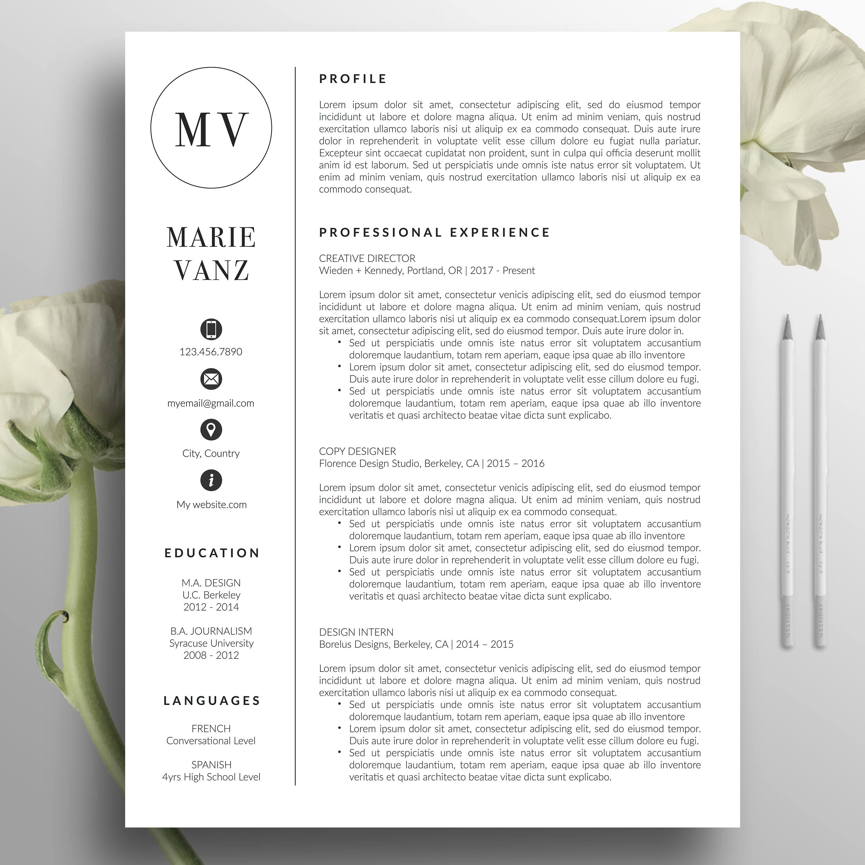 Kreative Lebenslauf Vorlage CV Vorlage Anschreiben Wort