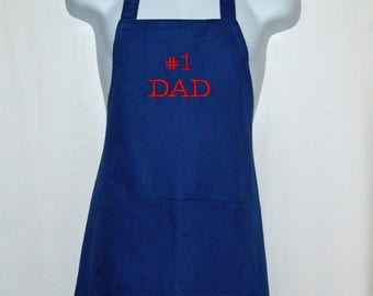 Dad Apron, Hubby, Papa, Grampy, Pappaw, Pops, Opa,Boss, Pops, Custom Gift, Personalized With Name, No Shipping Fee,  Ships TODAY, AGFT 345