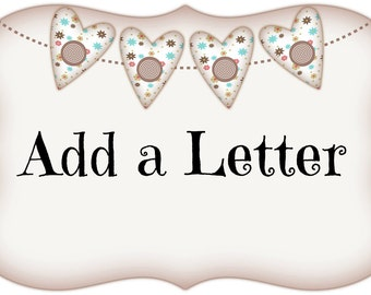 Add a letter or letters to a name banner