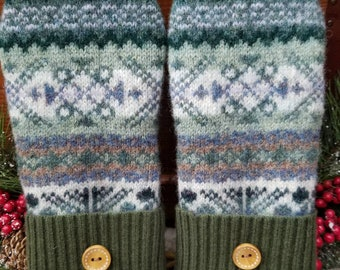 Warm Cozy Wool Sweater with Mittens