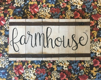 Farmhouse Sign // Metal Sign // Wood Sign // Fixer Upper Style Sign // Hand Lettering // Rustic // Created by GreenValleySigns