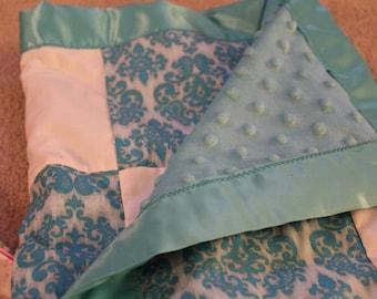 Baby girl minky blanket