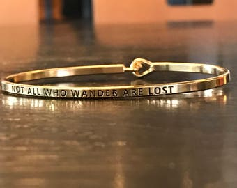 The inspired bangle bracelet (  not all how wander are lost )
