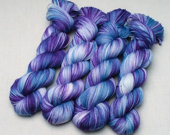 Hand dyed yarn 'Plunged'