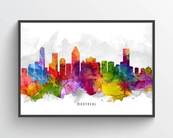 Montreal Skyline Poster, Montreal Wall Decor, Montreal Print, Montreal Art, Montreal Decor, Home Decor, Gift Idea, CAQCMO13P