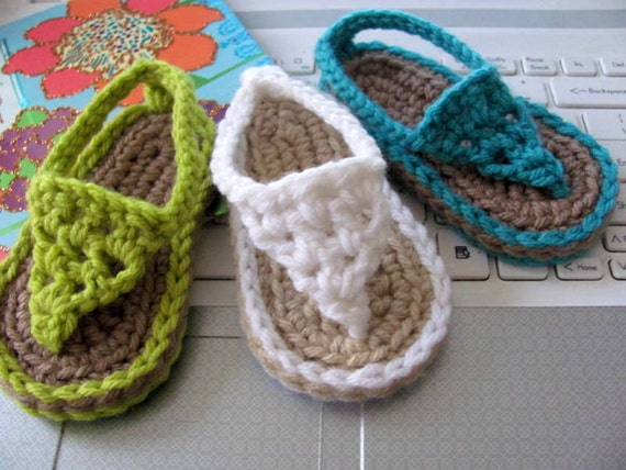 New Pattern Buggs Crochet Thong Sandals Instant Download From
