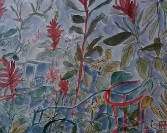 Dream of a Summer Garden with Amaranth