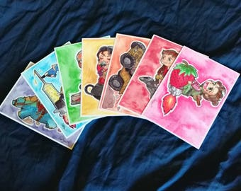 Firefly Watercolor Postcard Set