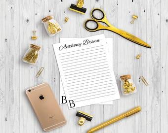 Personal Notepad, name notepad, custom memo pad, realtor marketing, real estate agent, custom notepad, handmade notepad, custom notepads,