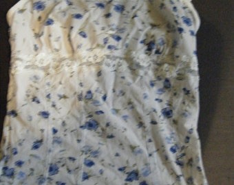 Vintage Arianne Lingerie//Blue Floral Camisole and Panties//Unworn 1990's  size medium Lingerie set//Free Shipping