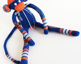 New York Knicks - Sock Monkey - NBA - National Basketball Association - Knicks -  Man Cave - Basketball Sock Monkey - Blue Sock Monkey