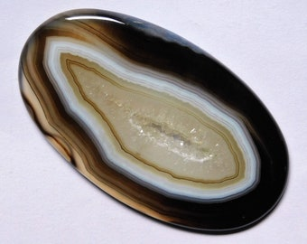 99.60 Cts Natural Botswana Agate Cabochon Loose Gemstone 61X35.5X5.5 MM