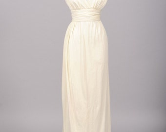 1970 Semi Wrap Vintage Wedding Gown