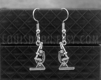 Laboratory Microscope -Biology Earrings -Chemistry Earrings -Microbiologist Earrings -Science Earrings -Doctor Jewelry