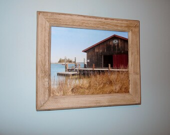 Framed Nautical Scene-St. Michael's Photo-Recycled Wood Frame