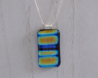 Sale; Dichroic Pendant; Dichroic Jewelry; Dichroic Fused Glass; Fuesed Glass Necklace/PDB802
