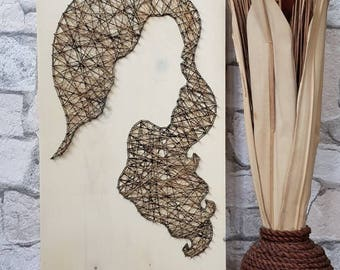 Lady Silhouette String Art