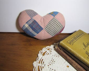 Sutffed Patchwork Hearts - Set of Two (2)