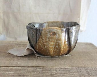 Vintage Small Pottery Craft USA Hanging Planter Pot