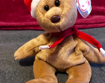"Presenting ""1997 Teddy"" a rare, mint condition, collectable, one of a kind, original TY Beanie Babies"