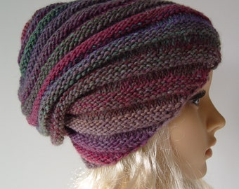 Knitted Slouchy Hat, Beanie Hat