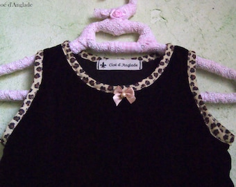 Dress sleeveless, French style black velvet 18 month girl