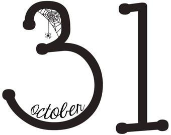 October 31 Halloween - Digitial Print 8x8