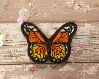 Orange, Yellow & White Handmade Butterfly Brooch/Pin