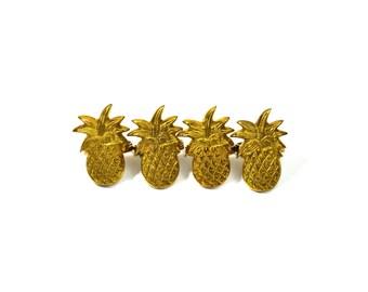 Brass Pineapple Napkin Rings Brass Napkin Rings Brass Pineapples Napkin Ring Set of 4 Pineapple Home Decor