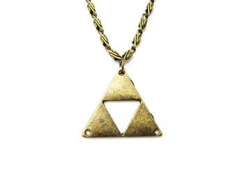 Triforce Necklace, Zelda Necklace, Triforce Jewelry, Legend of Zelda Necklace, Zelda Jewelry Metal Triforce