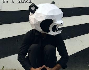 DIY Panda Paper Mask