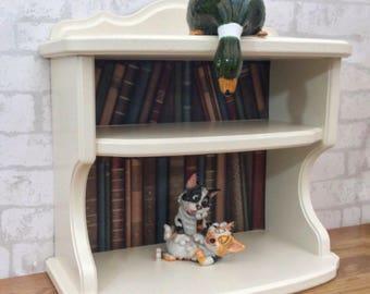 Book Shelves, Cream Wall Unit, Book Style Shelves, Small Book Shelves, Wall Unit, Display Shelves, Cream Wall Shelves, Wall Mounted Shelf,