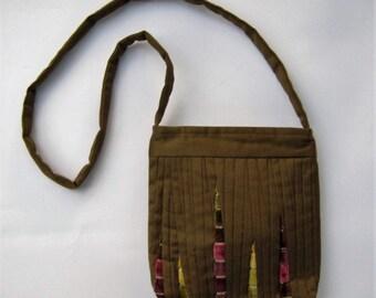 Bag Cross Body Bag Crossbody Purse Boho Bag Green Tote Bag Moss Green Bag Patchwork Bag Patchwork Handbag Quilted Bag Green Shoulder Bag