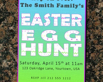 Easter Egg Hunt Party Invite
