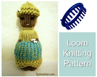 Loom Knitting PATTERNS Comfort Doll aka Izzy Duzuza Softies Doll with Step by Step Video Tutorial Easy for Toy Beginners by LoomaHat