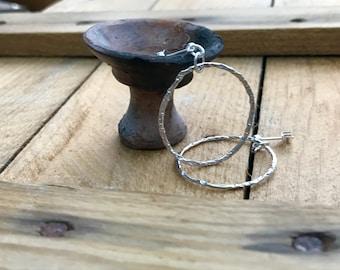 Textured Wire Hoop Earrings