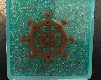 Handmade Square Nautical Coasters