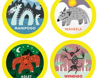 Canadian Cryptid/Monster/Creature Stickers