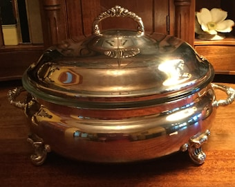 Vintage Towle Silverplate Round Covered Casserole #2823