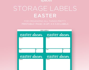 Holiday Storage Labels - Easter Decorations & More Organizing Labels - PRINTABLE Labels