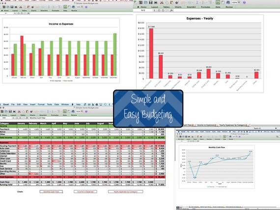 Berühmt Budget Excel Tabellenkalkulation Vorlage Galerie ...