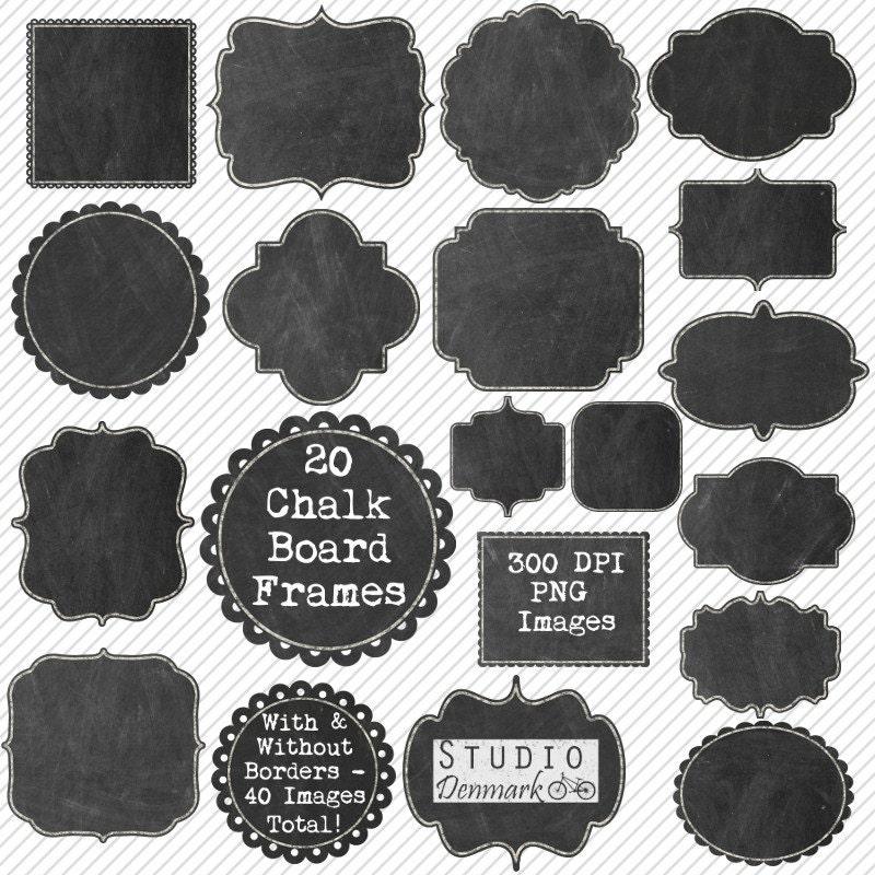 Chalkboard Frames Clipart 20 Chalkboard Clipart Labels /
