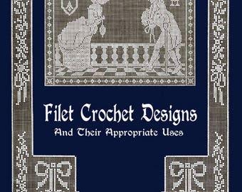 Anne Orr #8 c.1916 Vintage Filet Crochet Designs and Patterns