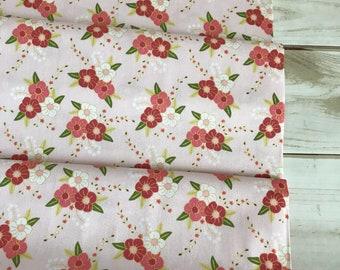 On Sale! Riley Blake Wonderland Floral Pink 100% Cotton